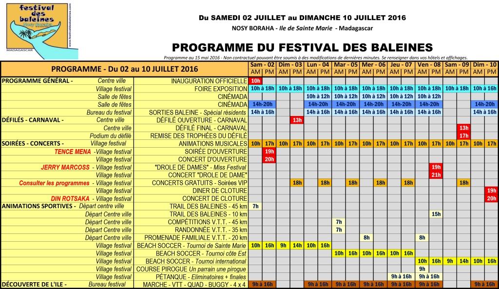 Programme festival des baleines 2016