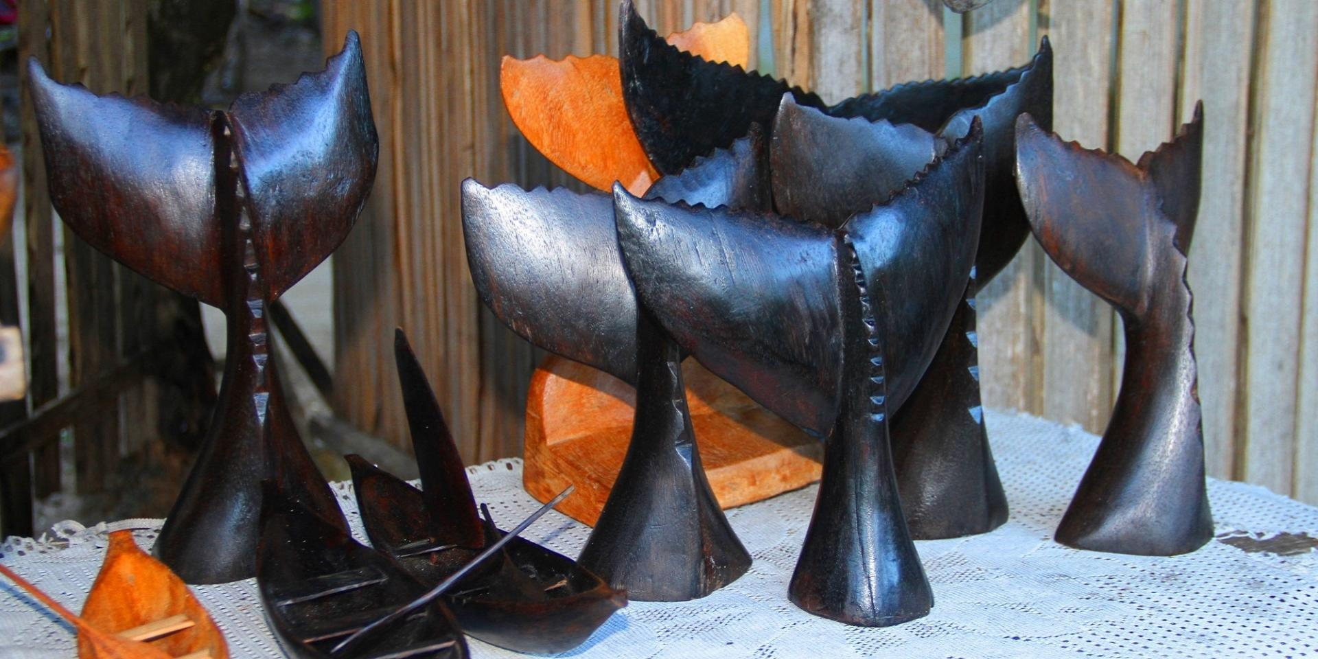 Sculpture en bois de baleine